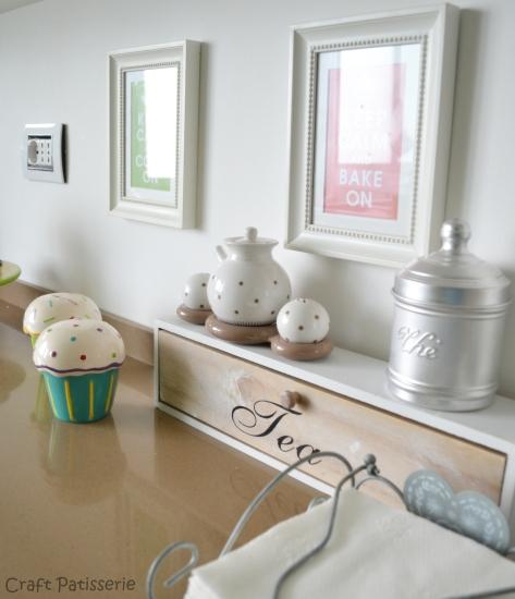 Un particolare della mia cucina che tradisce la mia non celata passione per il tè