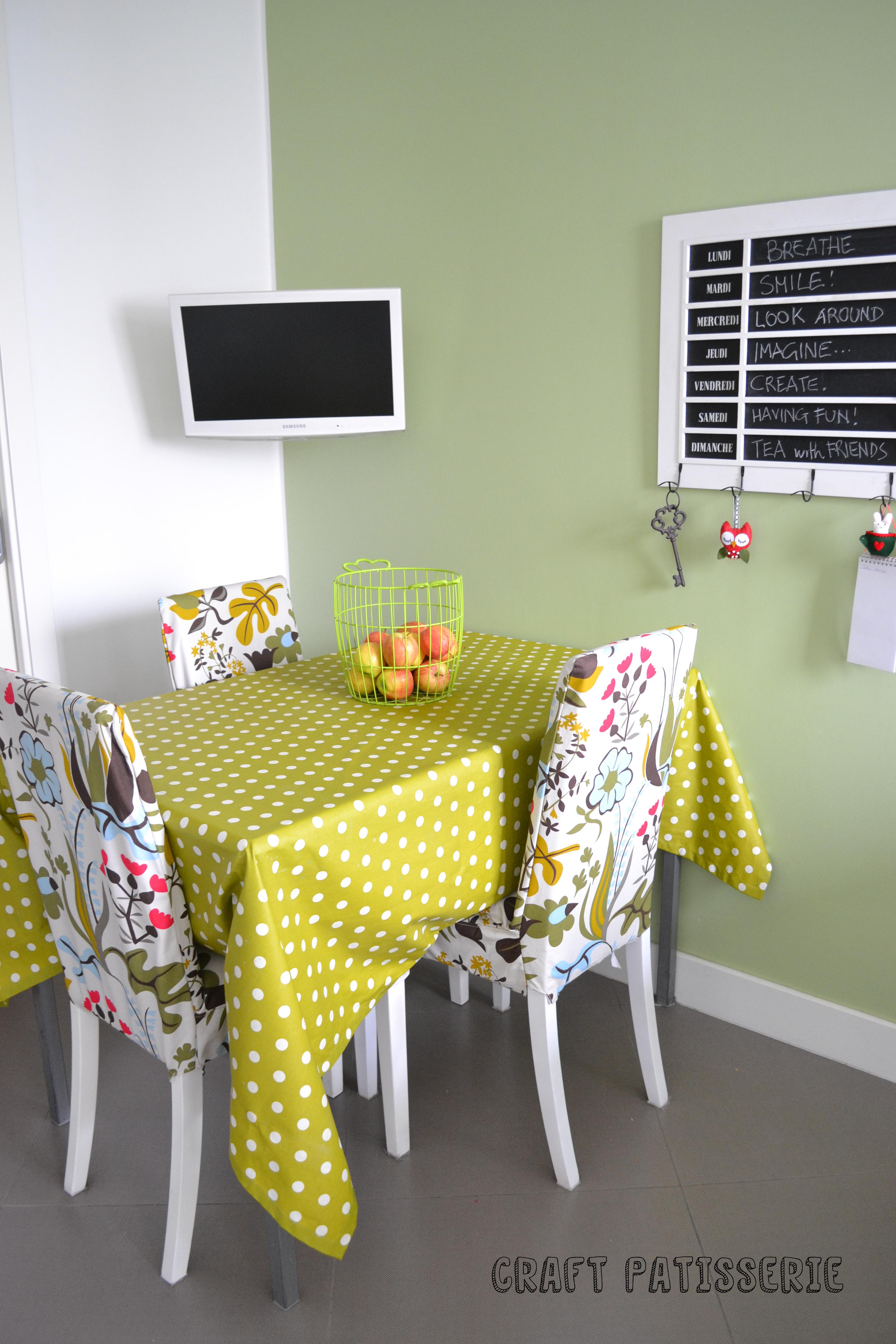 La cucina di craft patisserie con le sedie vestite d autunno for Sedie vestite
