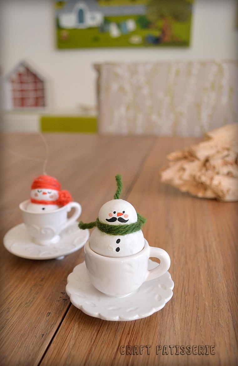 cold porcelain snowman