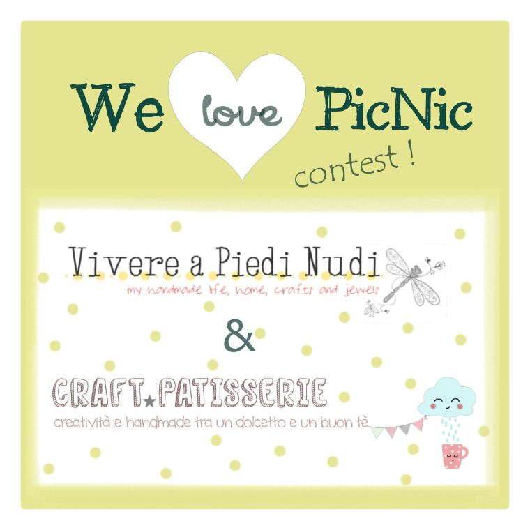 LOGO #welovepicnic_contest by CraftPatisserie e Vivere a piedi nudi. Furoshiki pic nic towel handmade!