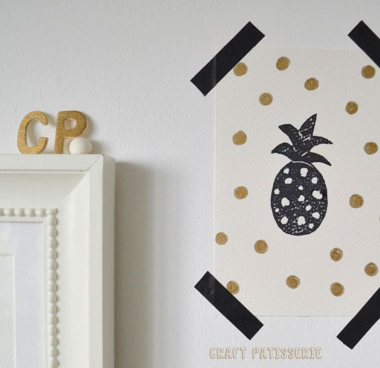 pineapple stamp diy & decor by craftpatisserie