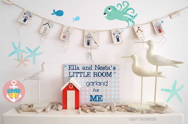 Ella and Nesta's Little Room Garland for CrartPatisserie. Summer gift party contest.