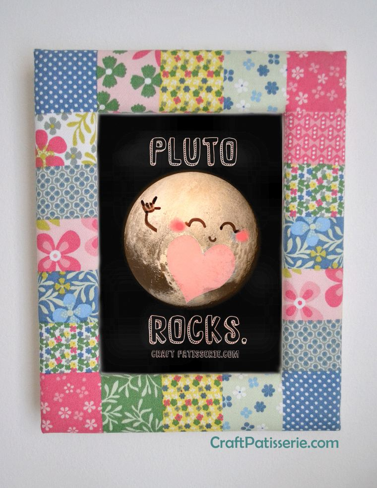 free printable digital art by craftpatisserie. Cute Pluto illustration.