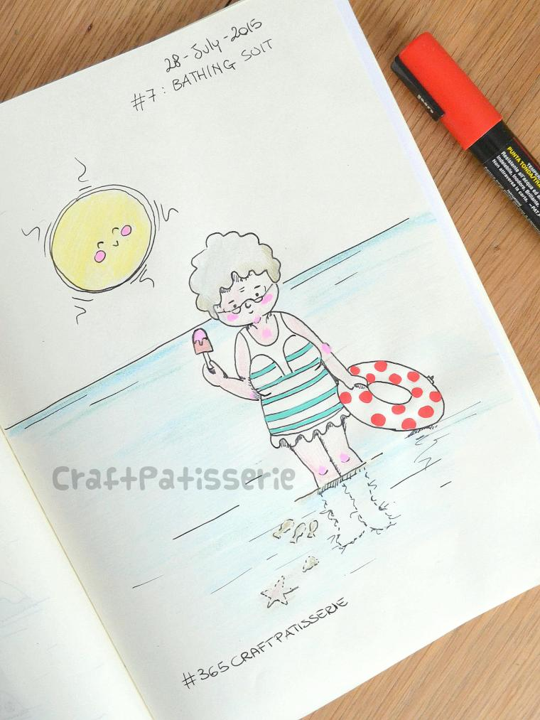 BathingSuit  illustration by craftPatisserie