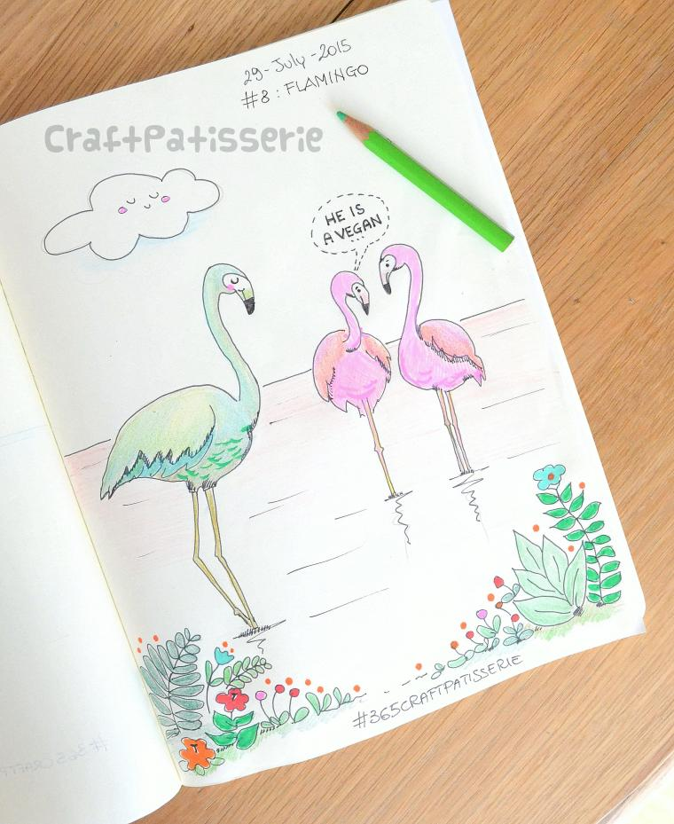 flamingo  illustration by craftPatisserie
