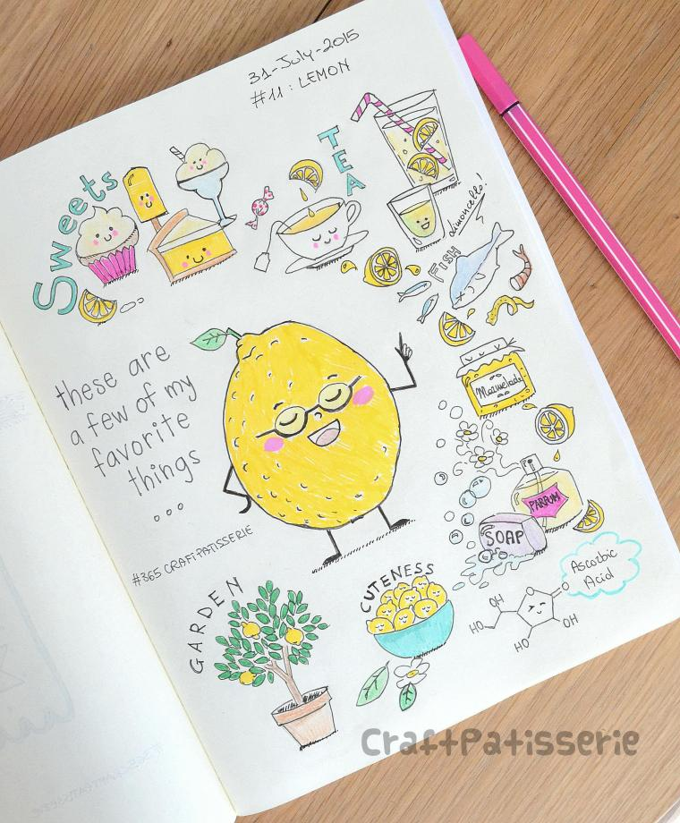 Lemon  illustration by craftPatisserie