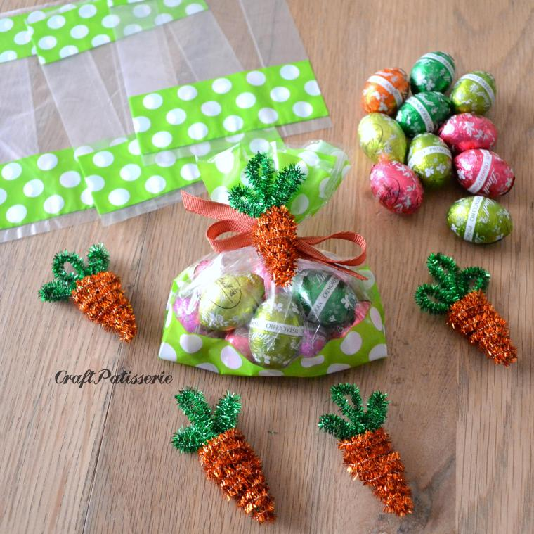 Diy one minute craft, pipe cleaner carrot