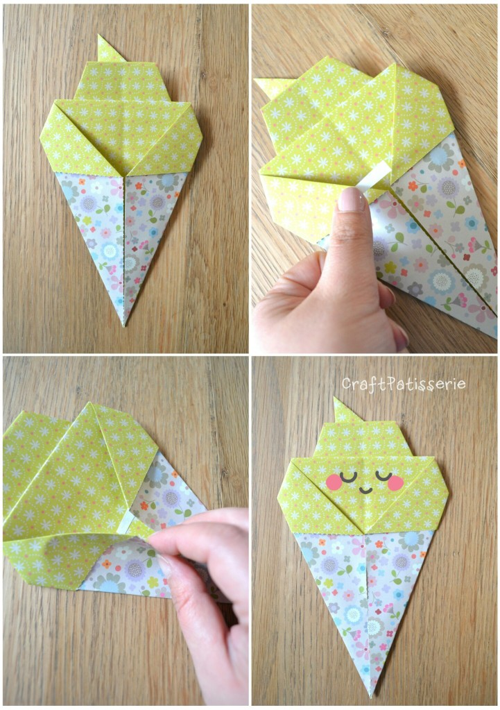 Paper diy: inspire your party! Origami icecream tutotial 3