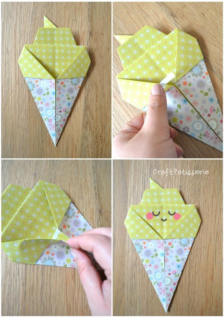 Paper diy: inspire your party! Origami icecream tutotial 3