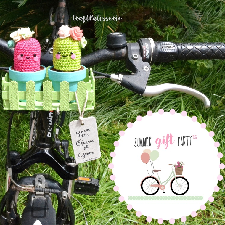 "Handmade planter for bike! ""summer gift paty"" by CraftPatisserie"